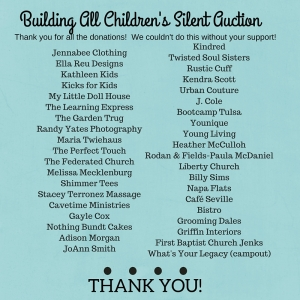 Building All Children's Silent Auction (1)